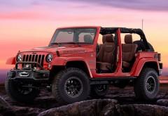 Концепт кар Jeep Wrangler Red Rock Concept в ярко красном цвете обои …