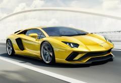 4k обои, 3840x2160, Lamborghini, Aventador S, Авентадор, Ламборджини