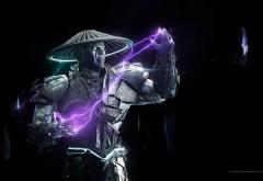 Mortal Kombat, Raiden, Смертельная Битва, файтинг, artwork, Райдэн об…