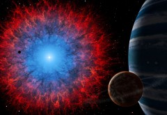 туманность, темный космос, небула, планета, галактика о…