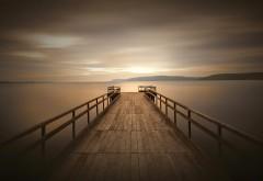 док, причал, пристань, тихий, спокойный, рассвет, водоем…