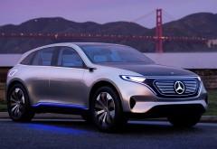 Mercedes-Benz Generation EQ Concept у ночного города обои hd