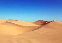 дюна, песок, пустыня, чистое небо, фон, заставка