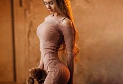 шатенка, стройная, фигура, сексуальная