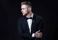 Егор Крид, парень, певец, черный костюм, фон, тату обои HD