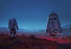 Астронавт на Марсе обои HD