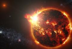 Мощный взрыв на Солнце