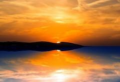 Оранжевый закат фоны природы