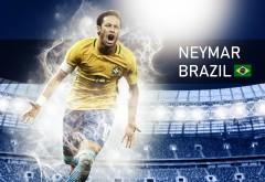 Неймар в футболке сборной Бразилии картики