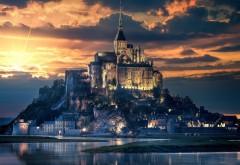 Замок на острове Мон-Сен-Мишель картинки
