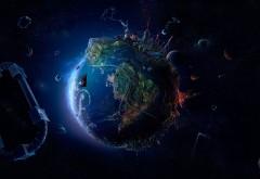 Земля из космоса обои HD