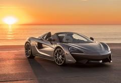 2018 McLaren 570S Spider у моря на закате картинки
