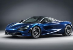 2018 McLaren 720S Atlantic Blue by MSO обои 4K
