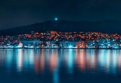 Ночные отражения в городских пейзажах обои HD