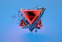 Треугольники в металле абстрактные обои