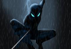 Черный Человек паук обои 4K