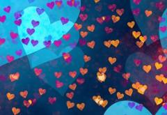 Фоны с сердечками обои
