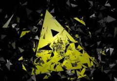 Абстрактные треугольники обои 4K