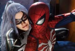 Человек-паук и Чёрная кошка картинки