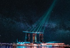 Картинки Marina Bay Sands ночью