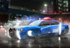 Фэнтези полицейское авто 4K обои