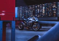 Ducati 1199 Panigale S мотоцикл в ночном городе обои