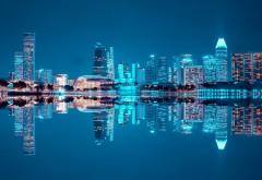 Ночной город яркие небоскребы картинки
