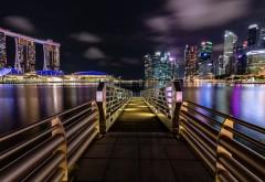 Ночной Marina Bay Sands обои HD