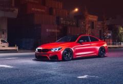 BMW M4 красный авто обои