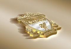 ФК Ливерпуль логотип в золотом обои 4K