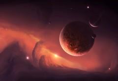 4K обои планеты в космосе