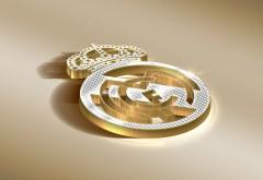 Реал Мадрид логотип в золотом обои