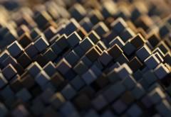 3D кубики обои 4K