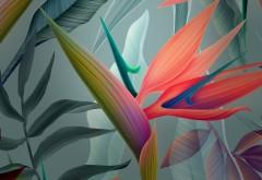 Абстрактные цветы обои