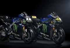 2019 Monster Yamaha YZR-M1 MotoGP 4K обои