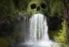 Мистический водопад череп обои HD