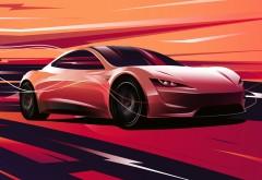 Tesla Roadster 2020 4K обои