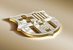 ФК Барселона логотип в золотом обои HD