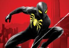 4K обои Человек паук в черном
