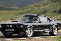 Черная Shelby Gt500 спортивное авто
