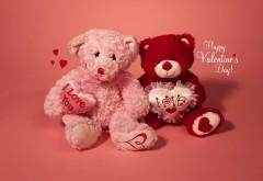 Яркие медвежата в день всех влюбленных