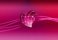 3D сердце в день всех влюбленных
