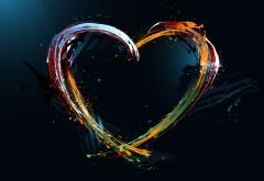 Сердце абстрактные обои на праздник