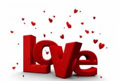 Любовь на белом фоне с сердечками