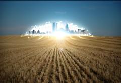 Город будущего в поле