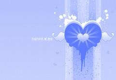 Холодное сердце на синем фоне