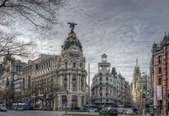 Обои главных улиц города Мадрида в Испании