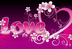 Яркие обои на тему любовь
