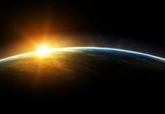 Обои космоса когда солнце встает