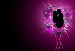Красивый поцелуй любящих людей